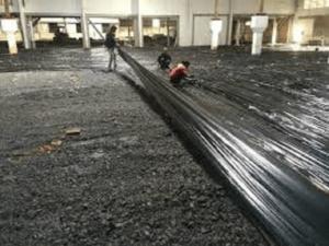 Nilon lót sàn đổ bê tông màu đen dày 3zem (30 mic) - LH đặt hàng 0919.15.75.75