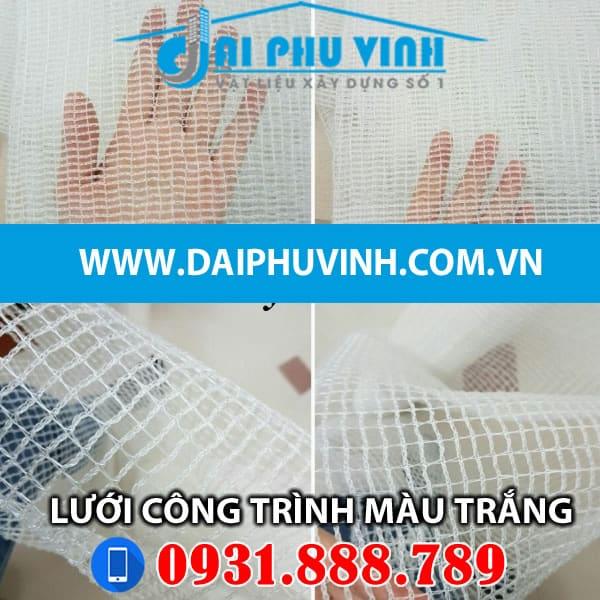 Lưới bao che xây dựng màu trắng - Lưới bao che công trình màu trắng. LH 0931888789