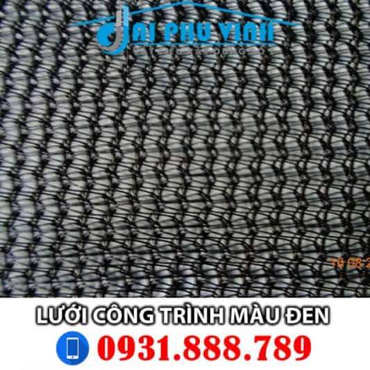 Lưới bao che xây dựng màu đen – Lưới bao che công trình màu đen. Lh 0931888789
