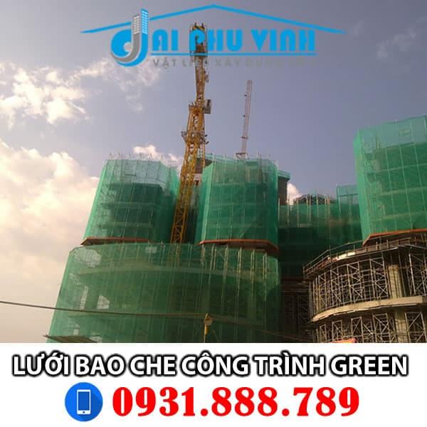 Lưới bao che công trình xây dựng màu xanh lá Green. Đặt hàng Lh 0931888789