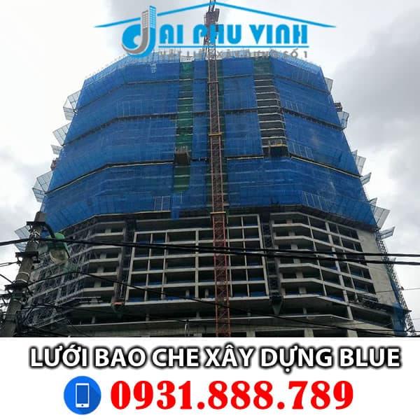 Lưới bao che công trình màu xanh đậm - Dark Blue . Lh đặt hàng 0931888789