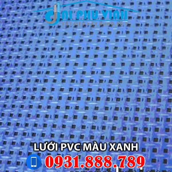 Lưới PVC màu xanh cho công trình. Lh 0931888789