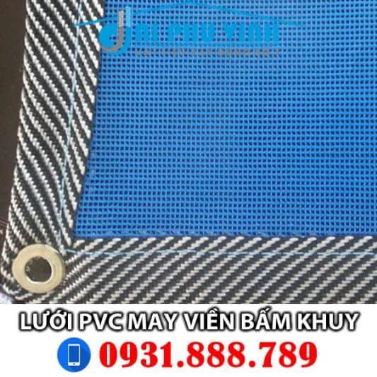 Lưới PVC may viền bấm khuy. LH đặt mua lưới PVC may viên bấm khuy 0931888789
