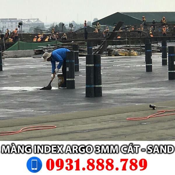 Màng chống thấm khò nóng Index Argo 3mm mặt cát - Sand. Liên hệ đặt hàng - Thi công 0931888789