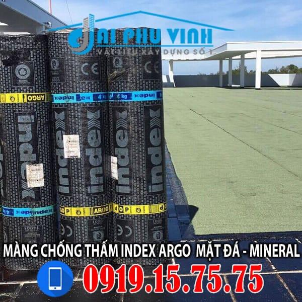 Màng chống thấm khò nóng Index Argo 3mm Đá - Mineral. Lh đặt hàng - thi công 0931888789