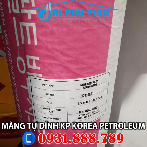 Màng chống thấm tự dính KP Korea Petroleum - hàn Quốc. Đặt hàng 0931888789