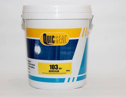 Chống thấm Quicseal 103 gốc Acrylic dành cho sàn mái hoặc tường đứng. Lh mua hàng 0919.157.575